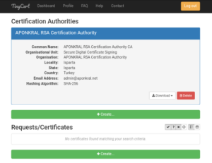 TinyCert Requests/Certificates